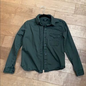 Small forever 21 army green button up